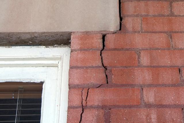 Air sealing cracks from foundation wall